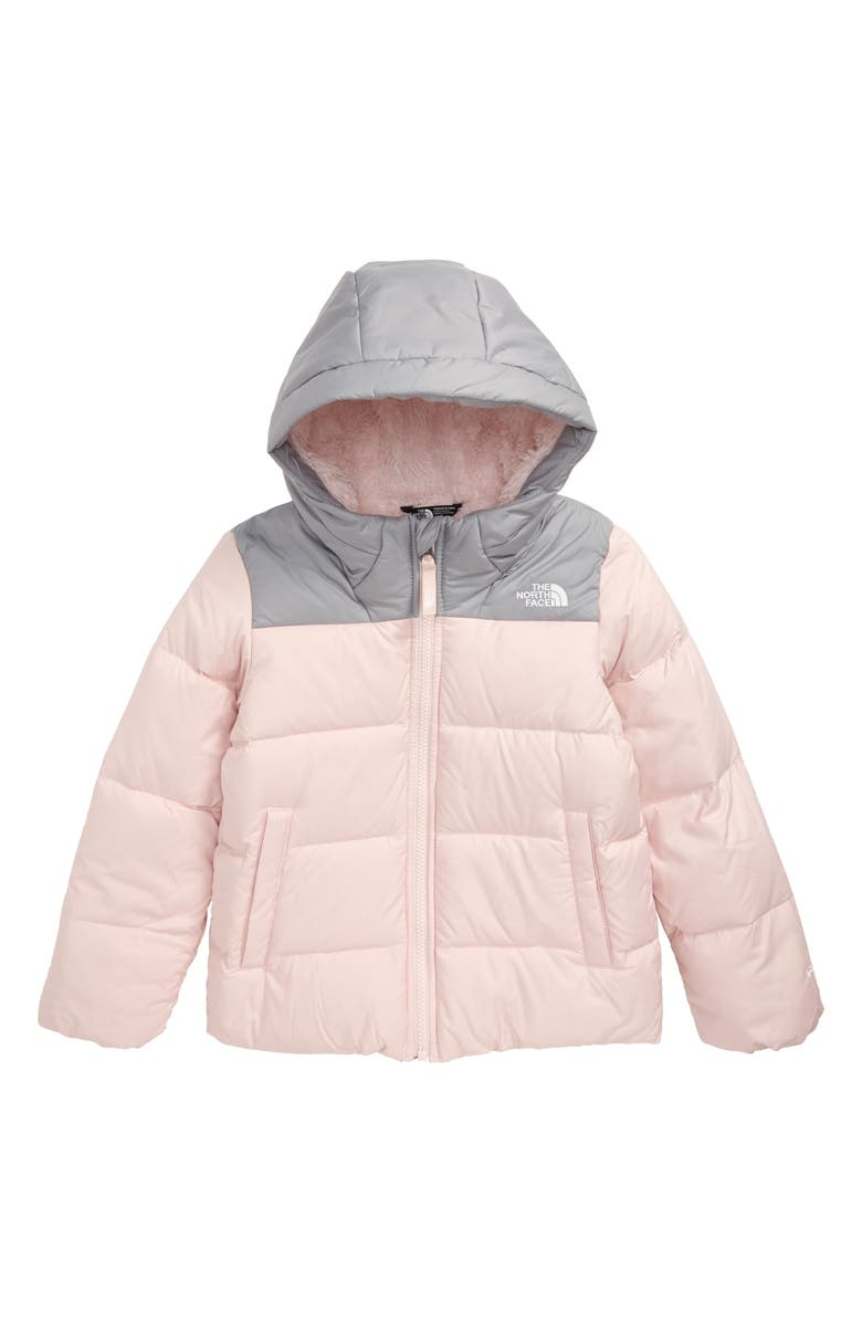 THE NORTH FACE Moondoggy Water Repellent Down Jacket, Main, color, PURDY PINK