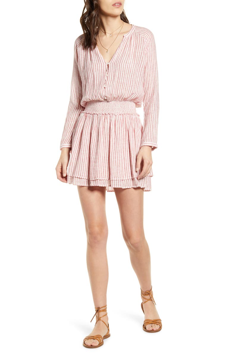 RAILS Jasmine Long Sleeve Dress, Main, color, BELMONT STRIPE