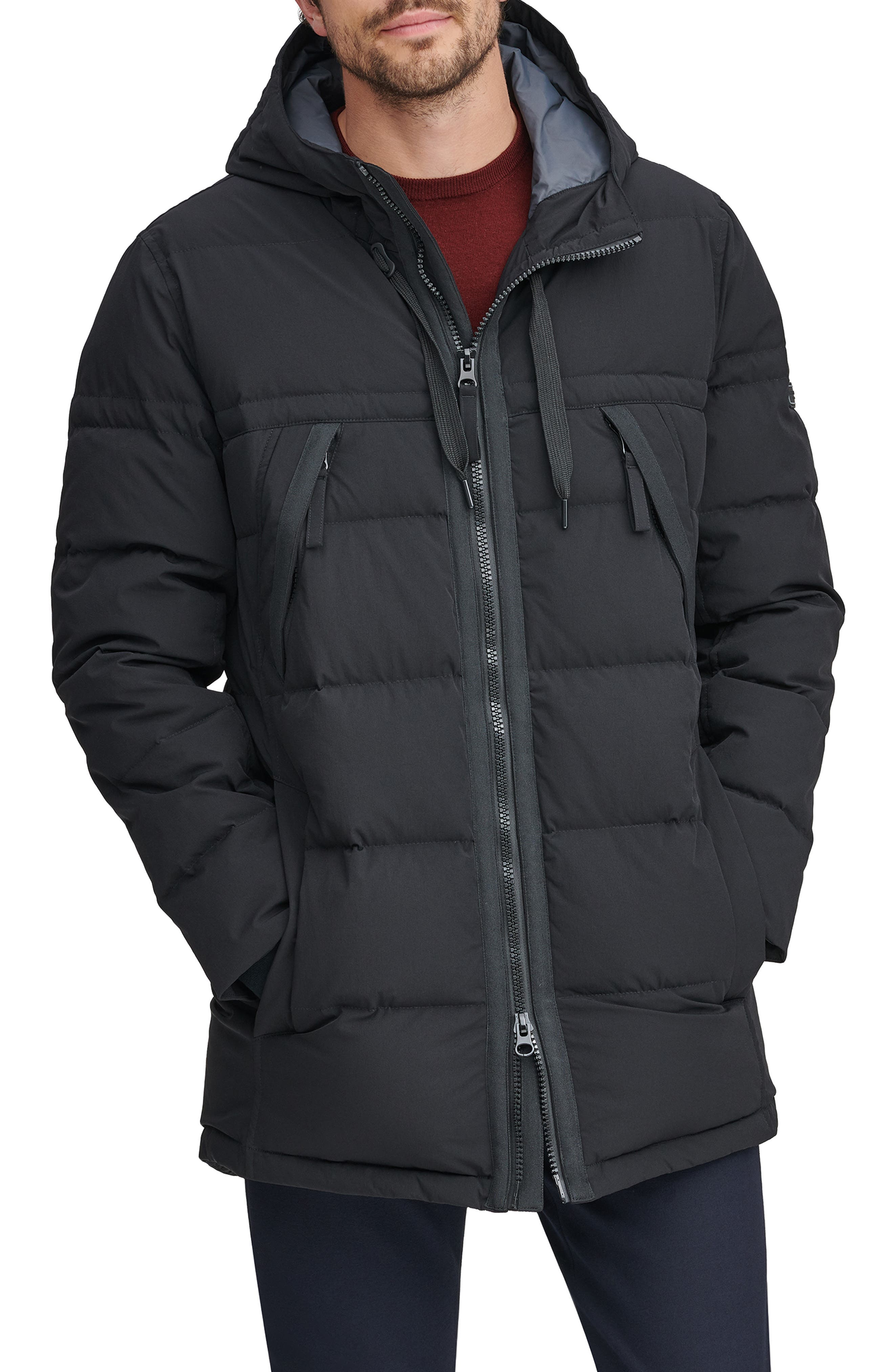 Holden Water Resistant Down & Feather Fill Quilted Coat