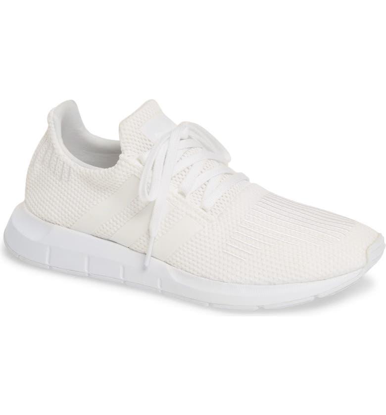 ADIDAS Swift Run Sneaker, Main, color, WHITE/ WHITE/ BLACK