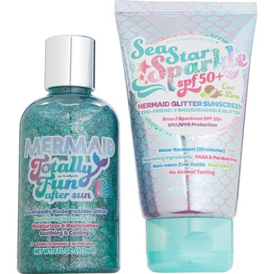 Sunshine & Glitter Mermazing Glitter Sunscreen & After Sun Soothing Lotion Gift Set