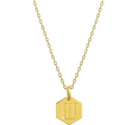 Stella + Ruby Monogram Initial Pendant Necklace