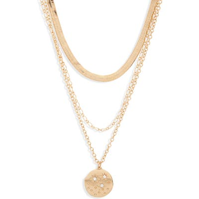 Bp. Triple Layer Star Coin Necklace