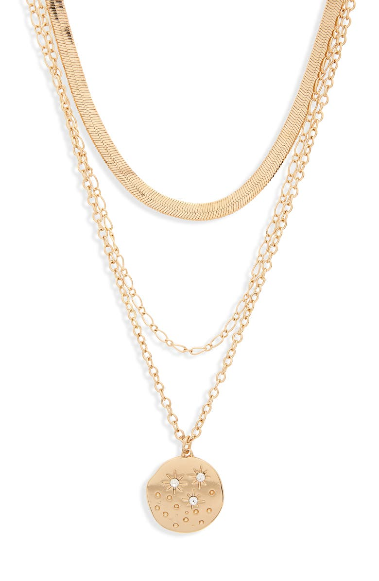 Triple Layer Star Coin Necklace by Bp.