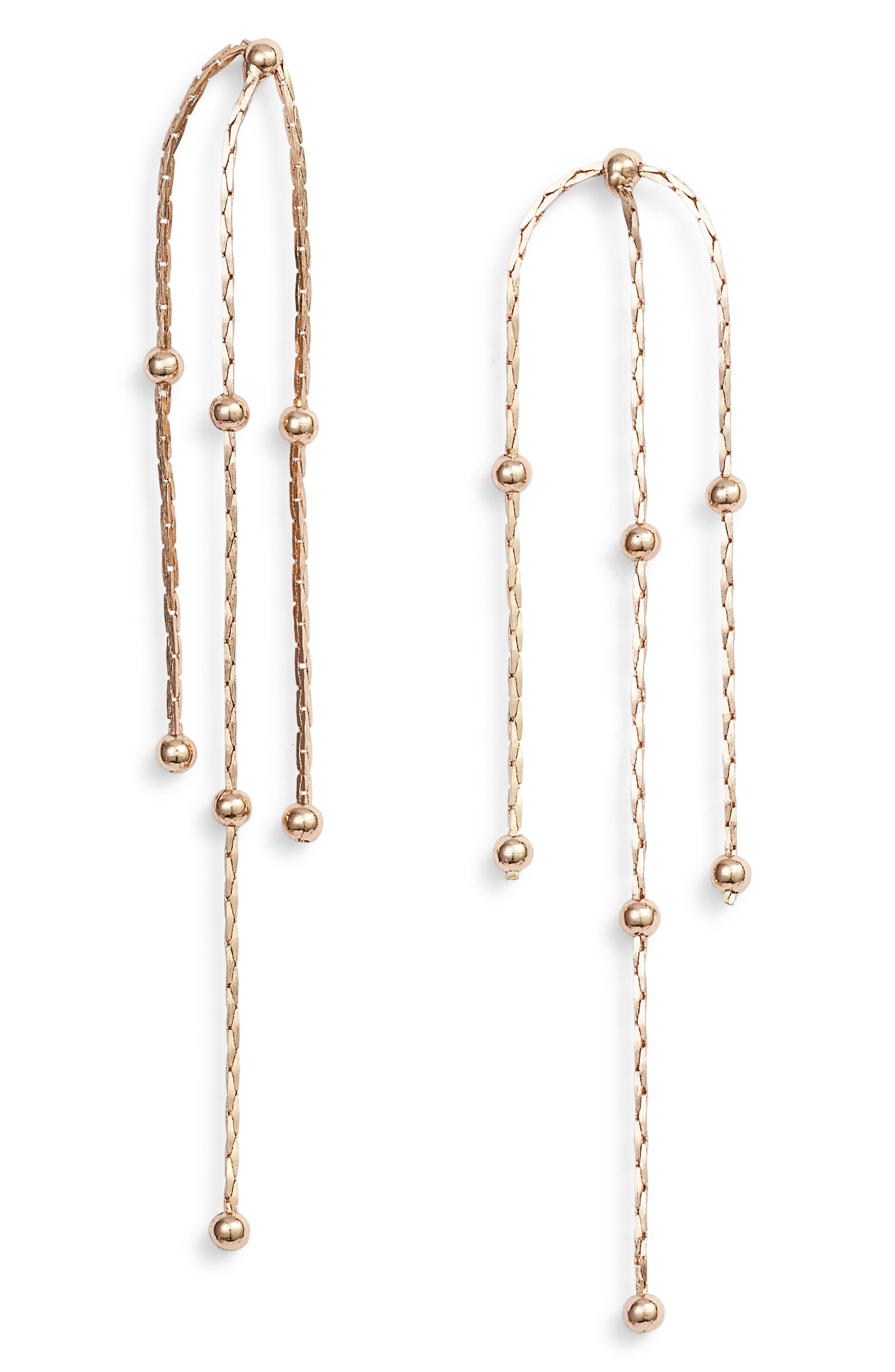 Romey Drop Earrings, Main, color, GOLD