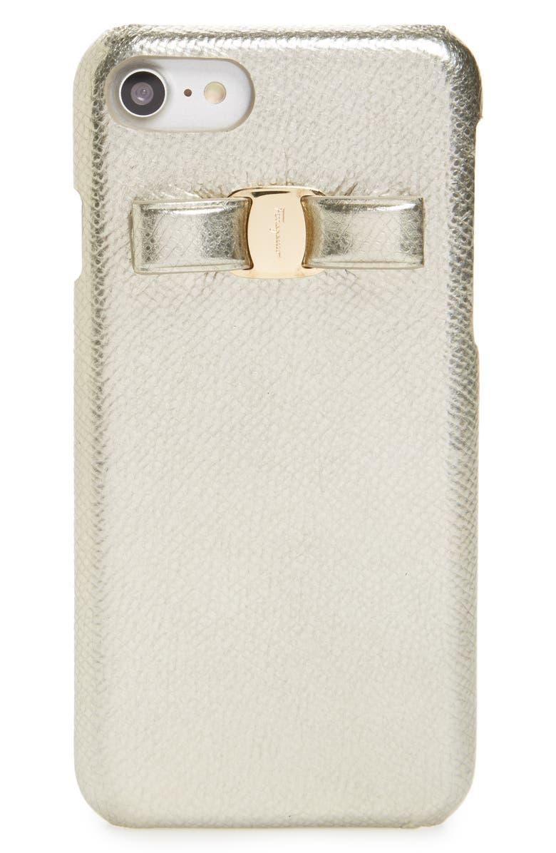 promo code 9e8ed 7b5f8 Salvatore Ferragamo Leather Bow iPhone 7 Case | Nordstrom