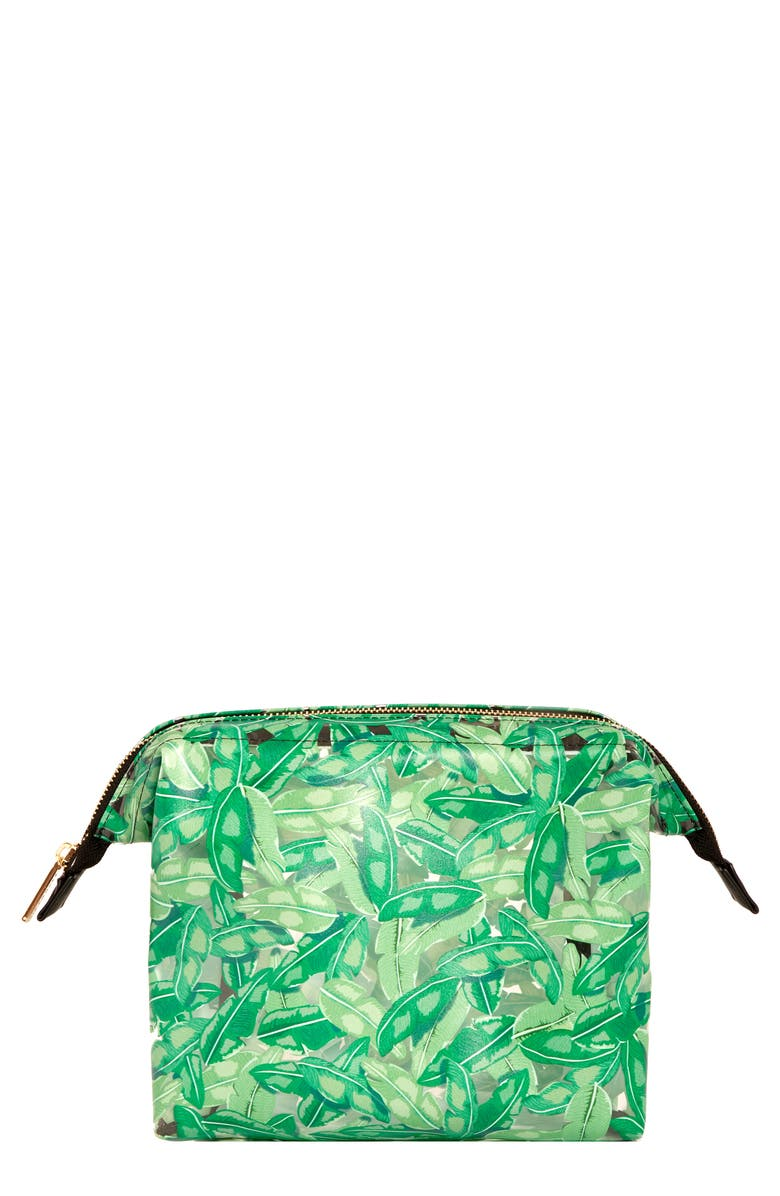 SKINNYDIP Green Ferns Wash Bag, Main, color, GREEN FRONDS