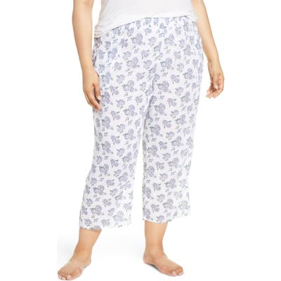 Plus Size Make + Model Crinkle Crop Pajama Pants, Pink