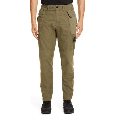Stone Island Tapered Fit Cargo Pants, Green