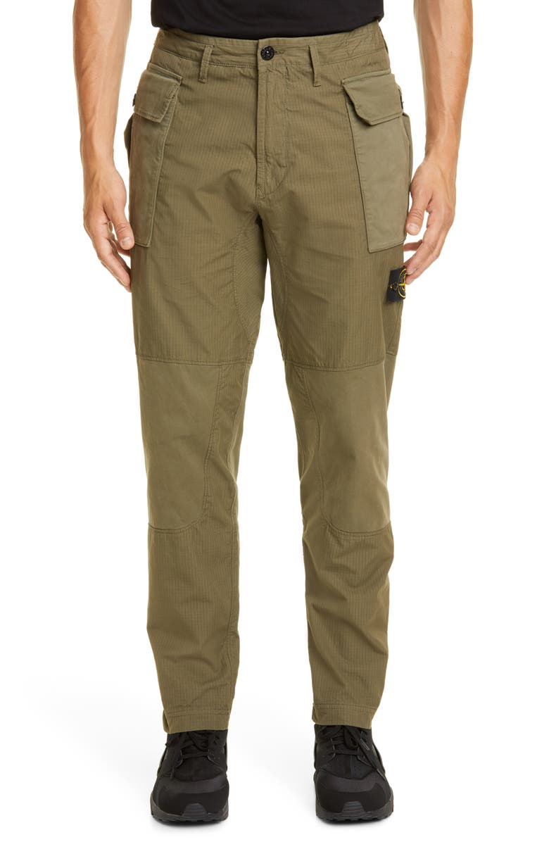 STONE ISLAND Tapered Fit Cargo Pants, Main, color, V0058 OLIVE