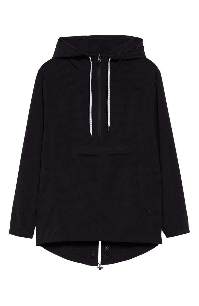 ZELLA Aura Packable Anorak, Main, color, BLACK