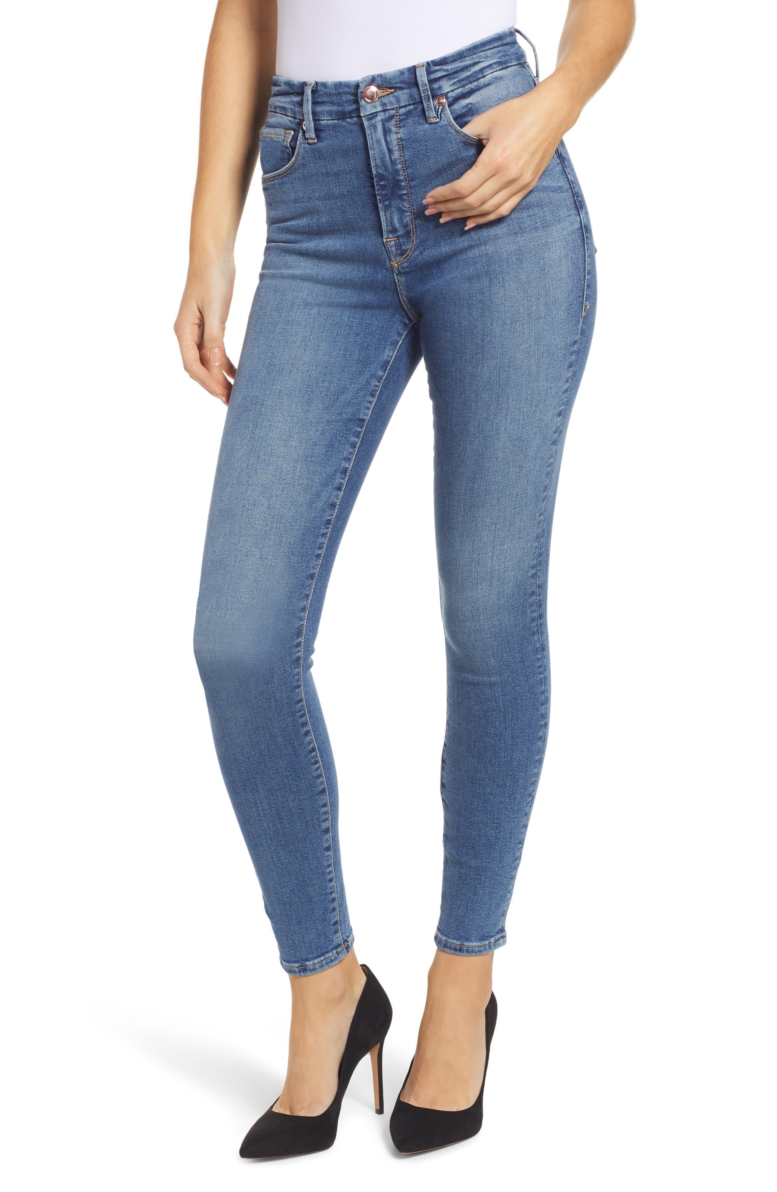 Women's Good American Good Waist High Waist Ankle Skinny Jeans