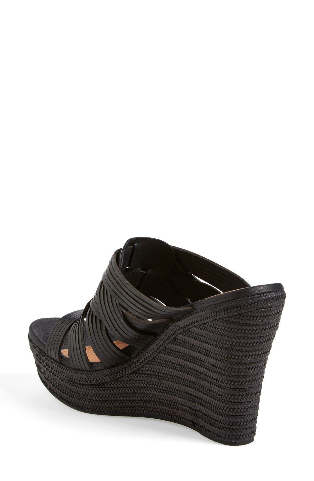 ,                             'Melinda' Platform Wedge Sandal,                             Alternate thumbnail 3, color,                             001