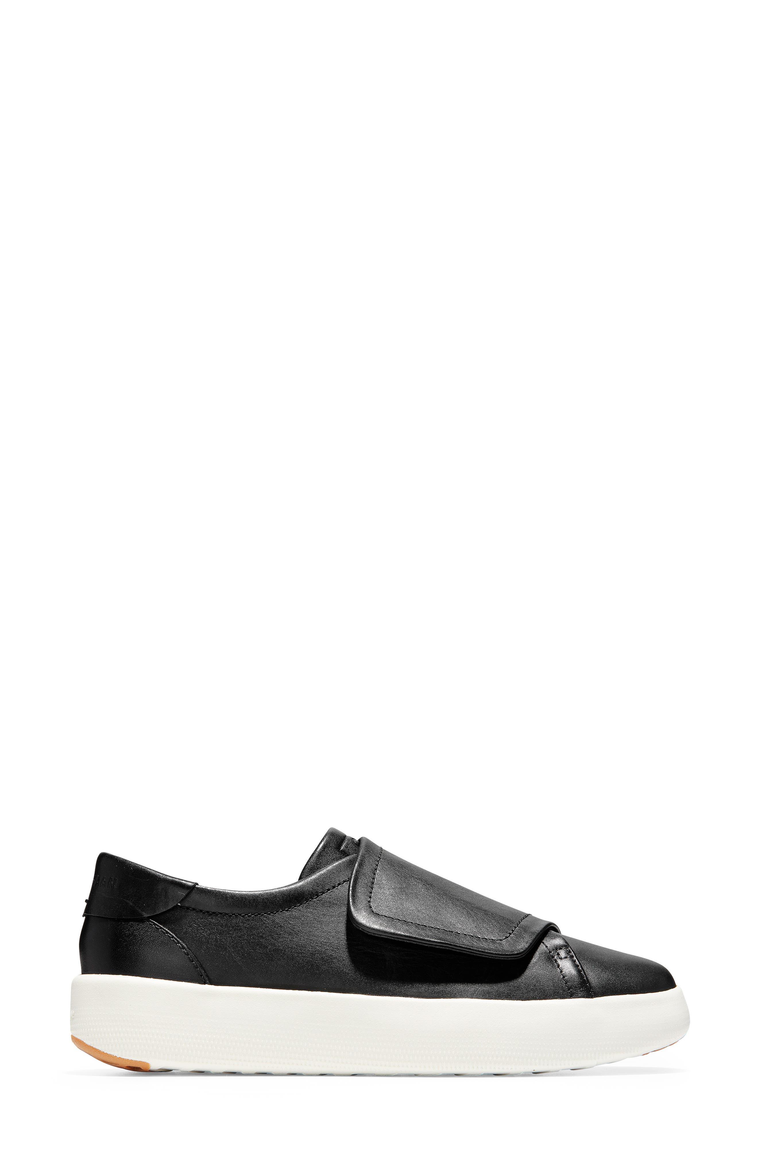 ,                             GrandPro Flatform Sneaker,                             Alternate thumbnail 3, color,                             BLACK LEATHER