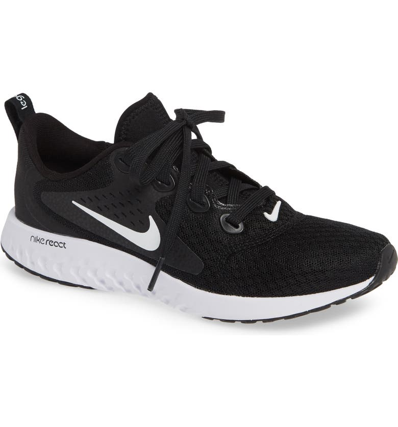 NIKE Legend React Running Shoe, Main, color, BLACK/ WHITE