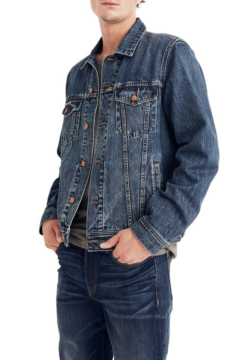 MADEWELL Classic Denim Jacket, Main, color, 400