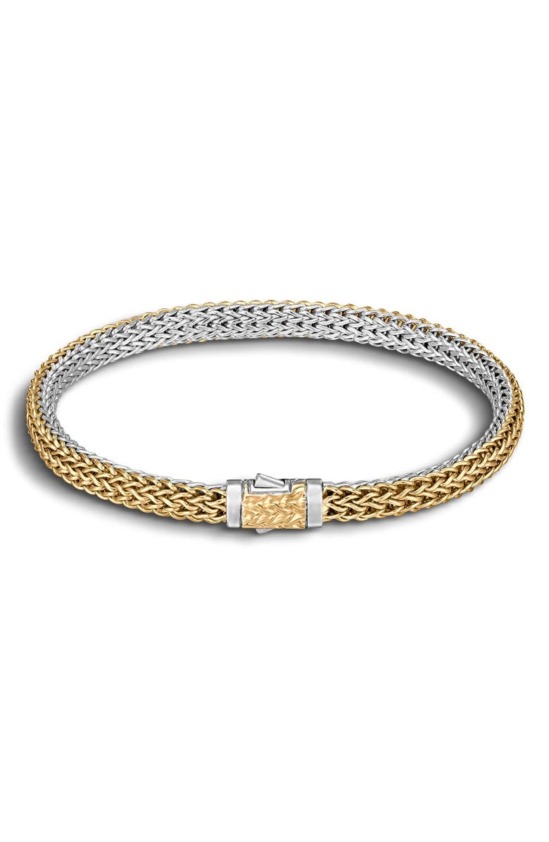 JOHN HARDY 'Classic Chain' Extra Small Reversible Bracelet, Main, color, SILVER/ GOLD