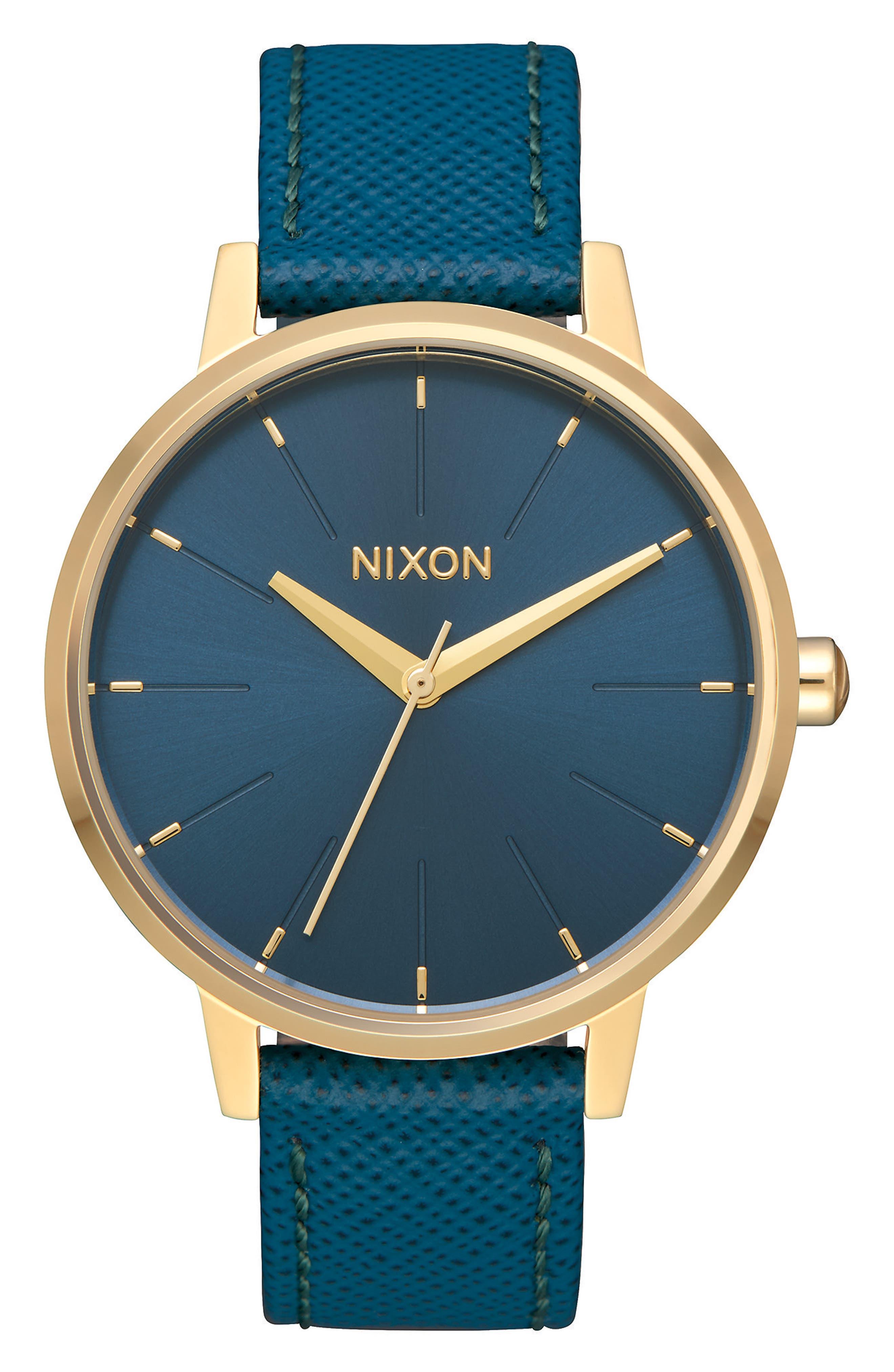 ,                             'The Kensington' Leather Strap Watch, 37mm,                             Main thumbnail 5, color,                             238