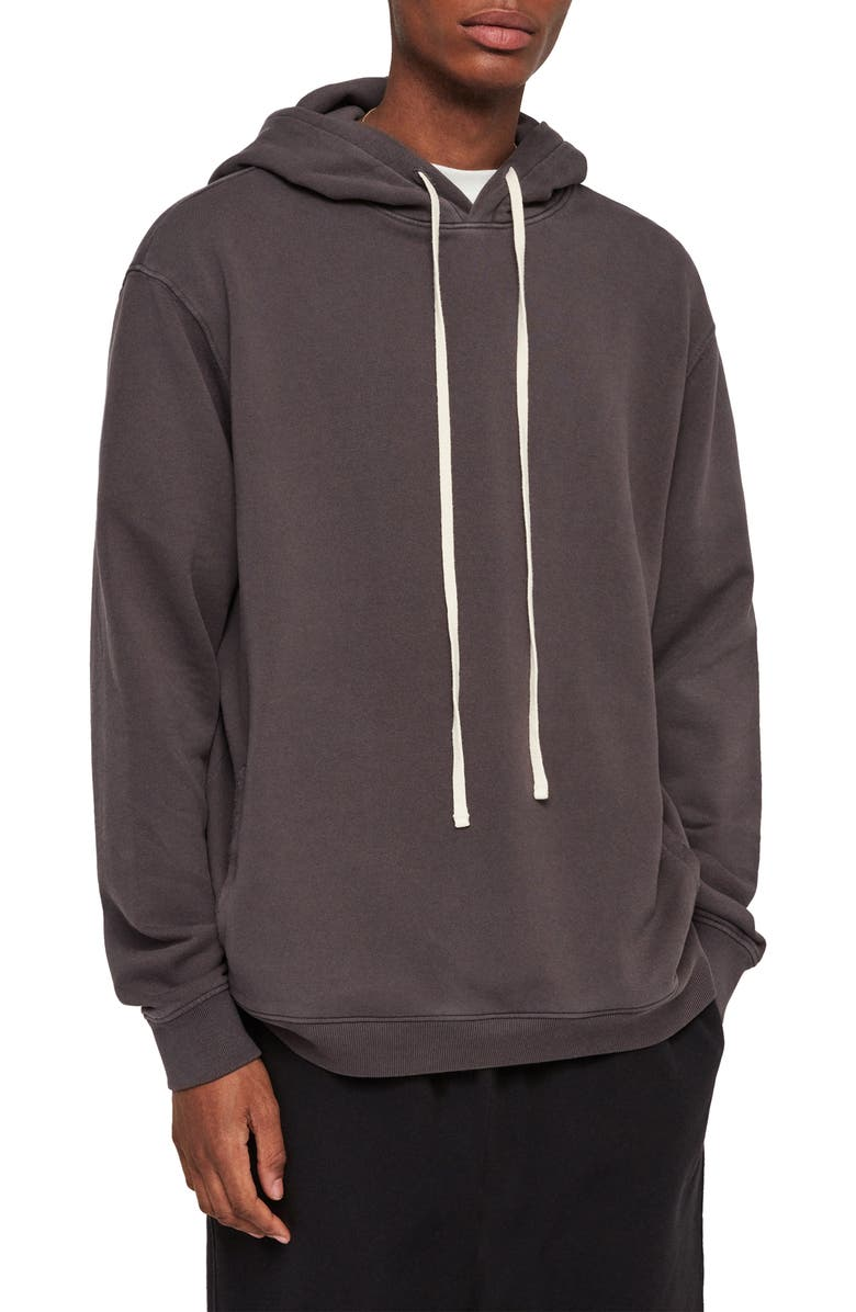 ALLSAINTS Avio Oversize Pullover Hoodie, Main, color, 020