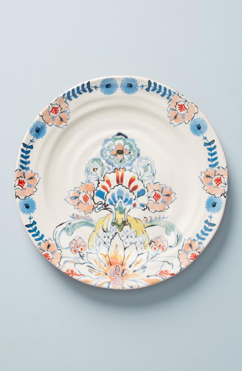 ANTHROPOLOGIE Eres Set of 4 Dinner Plates, Main, color, COMBO A-MULTI