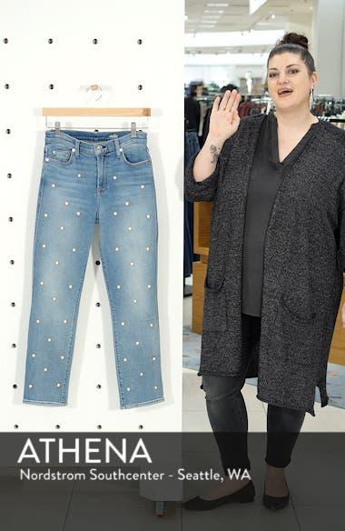 Edie Faux Pearl Detail Ankle Jeans, sales video thumbnail