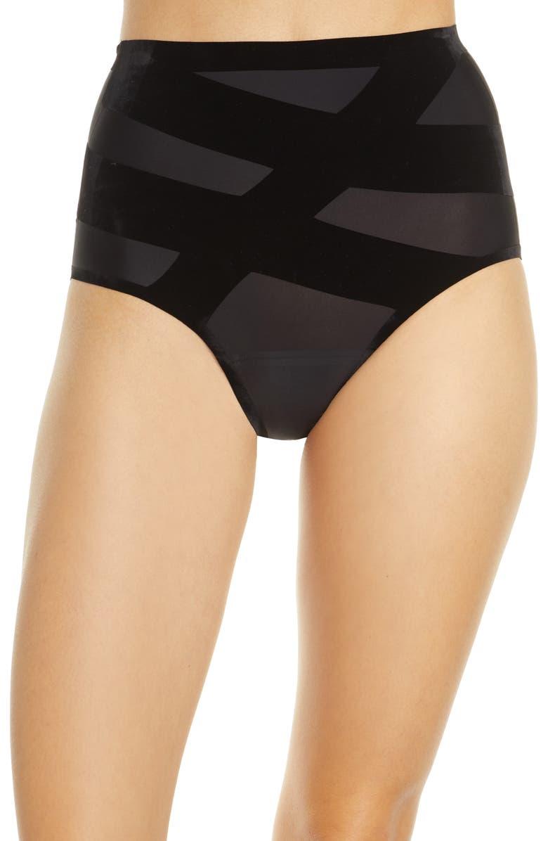 KNIX CoreLove Leakproof Postpartum High Waist Panties, Main, color, BLACK