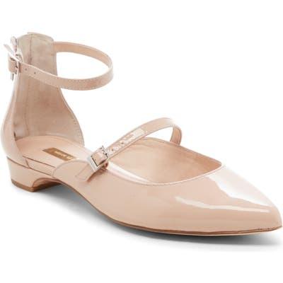 Louise Et Cie Claire Ankle Strap Flat- Beige