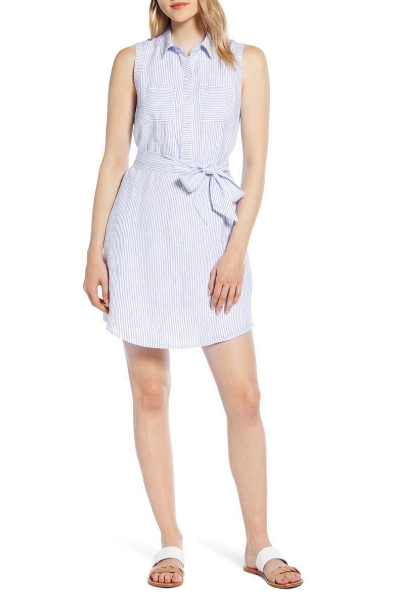 VINEYARD VINES Margo Striped Shirtdress, Main, color, 400