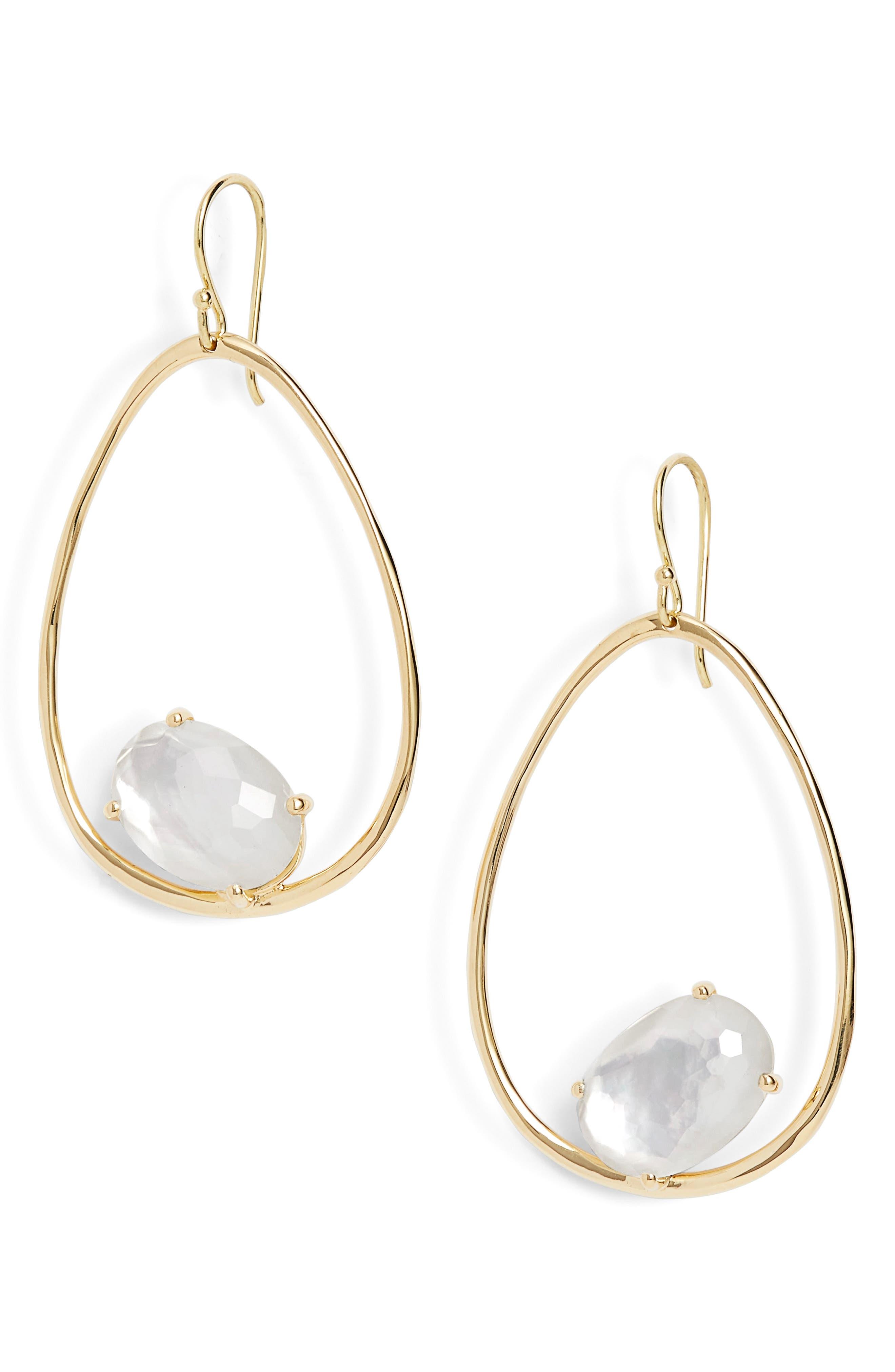 Image of Ippolita Rock Candy 18K Gold Large Drop Earrings