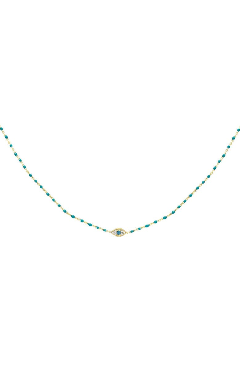 ADINA'S JEWELS Evil Eye Choker Necklace, Main, color, TURQUOISE