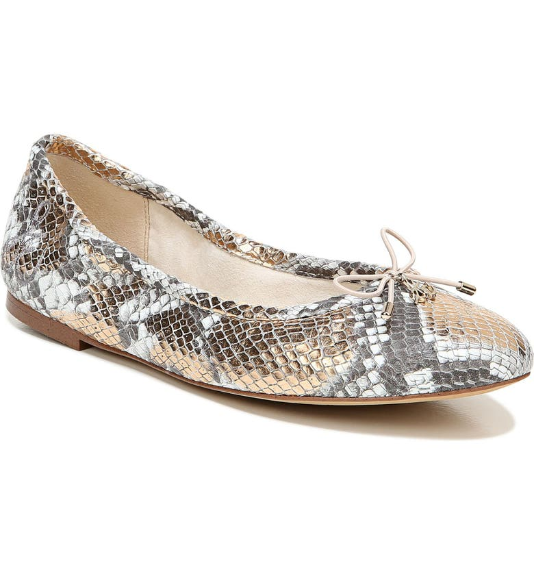 SAM EDELMAN Felicia Flat, Main, color, CHAMPAGNE LEATHER
