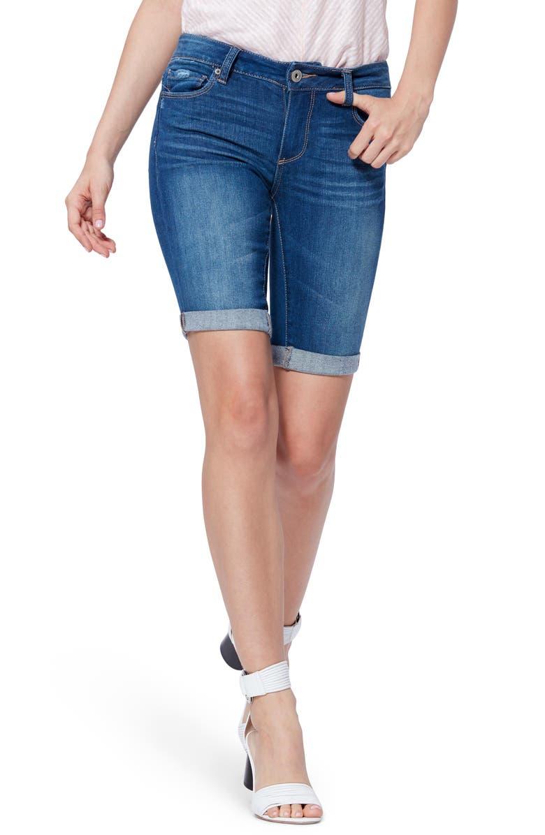 PAIGE Transcend Vintage - Jax Bermuda Shorts, Main, color, DELMONT