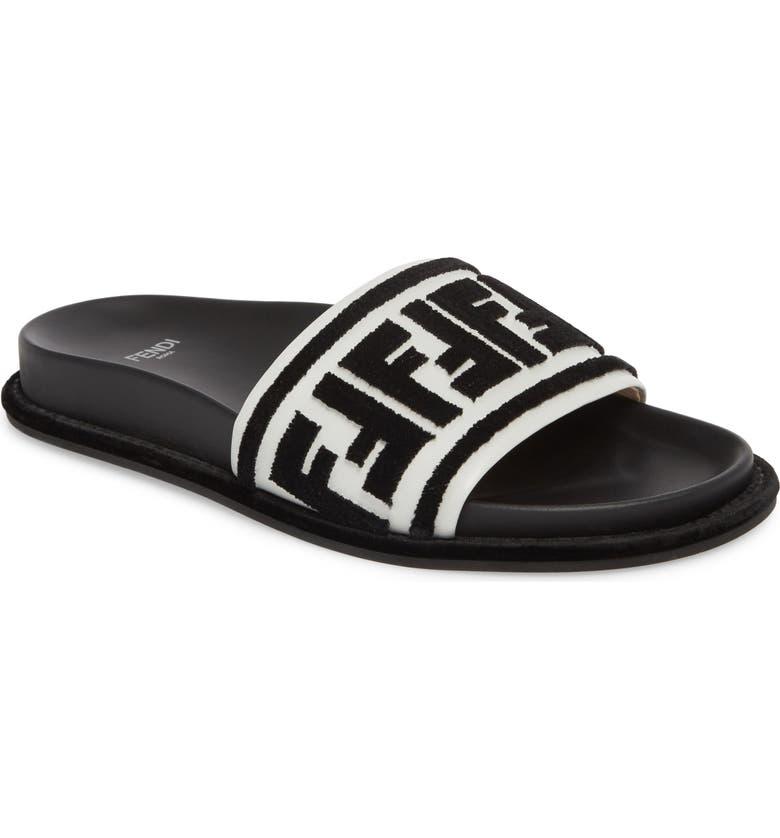 014e0587 Fendi Fun Fendi Logo Slide Sandal (Women) | Nordstrom