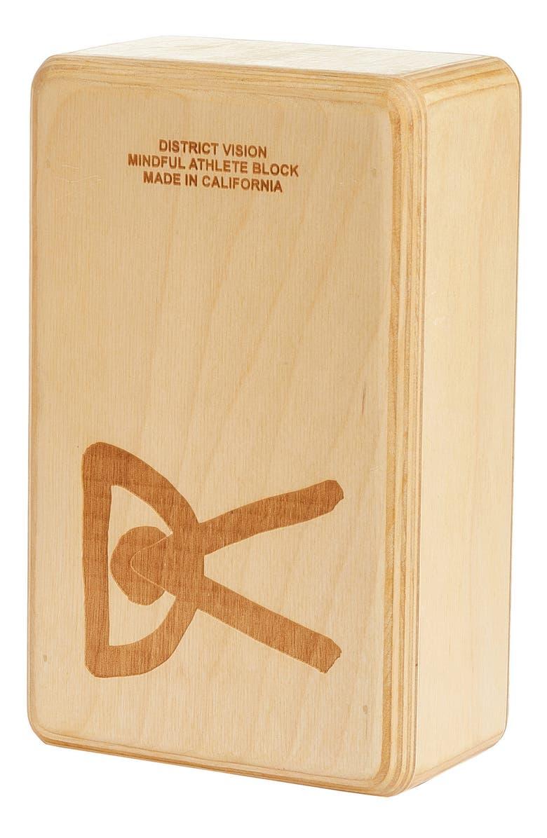 DISTRICT VISION Pilvi Wood Yoga Block, Main, color, MAPLE