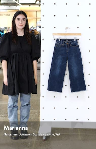 Kids' The Emma Ram Hem Crop Wide Leg Jeans, sales video thumbnail