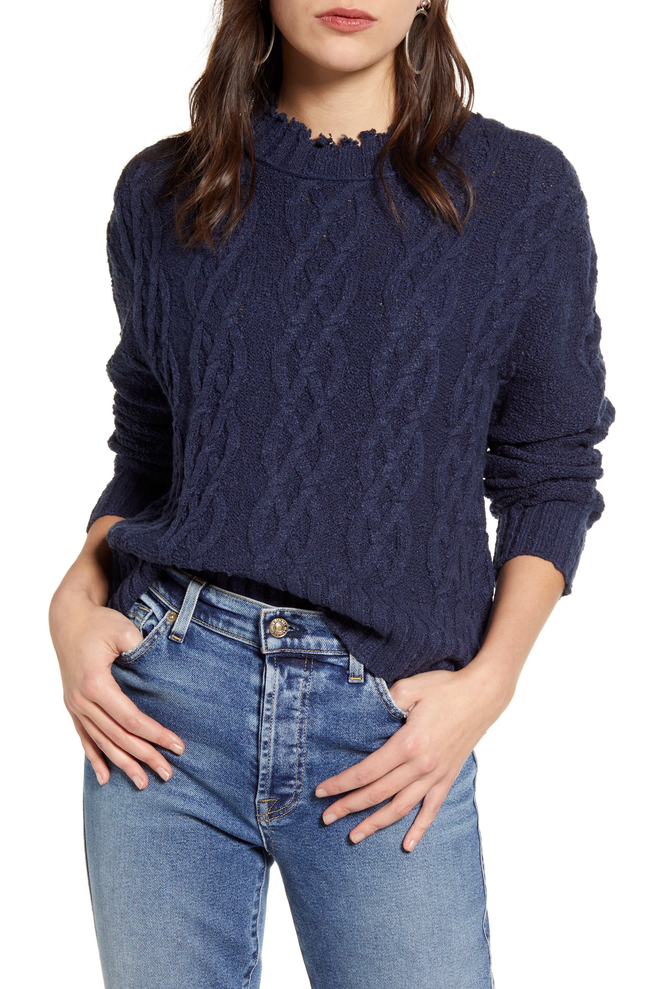 Treasure & Bond Cable Cotton Blend Sweater