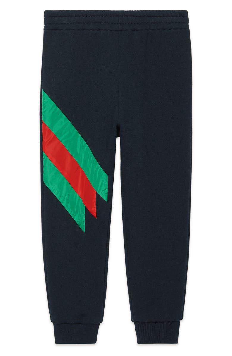 GUCCI Stripe Jogger Pants, Main, color, 493