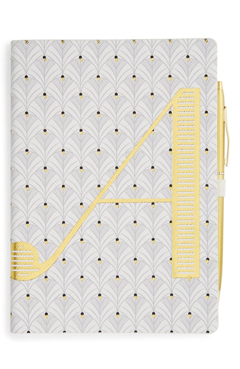 ANTHROPOLOGIE Monogram Journal & Pen Set, Main, color, A