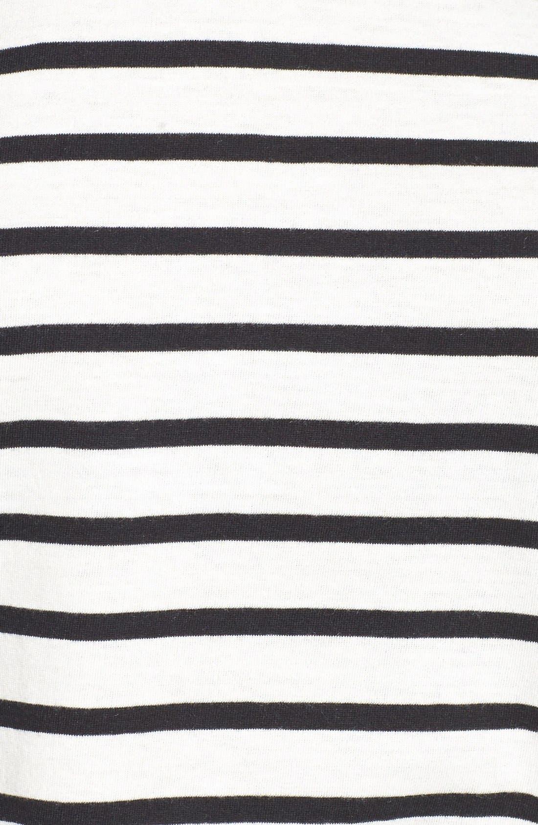 ,                             Stripe Crewneck Tee,                             Alternate thumbnail 18, color,                             900