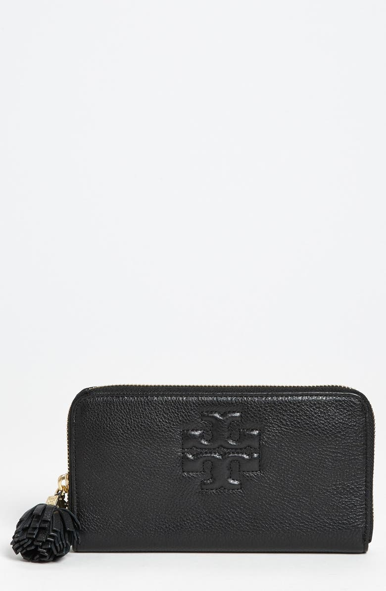 TORY BURCH 'Thea' Continental Wallet, Main, color, 001
