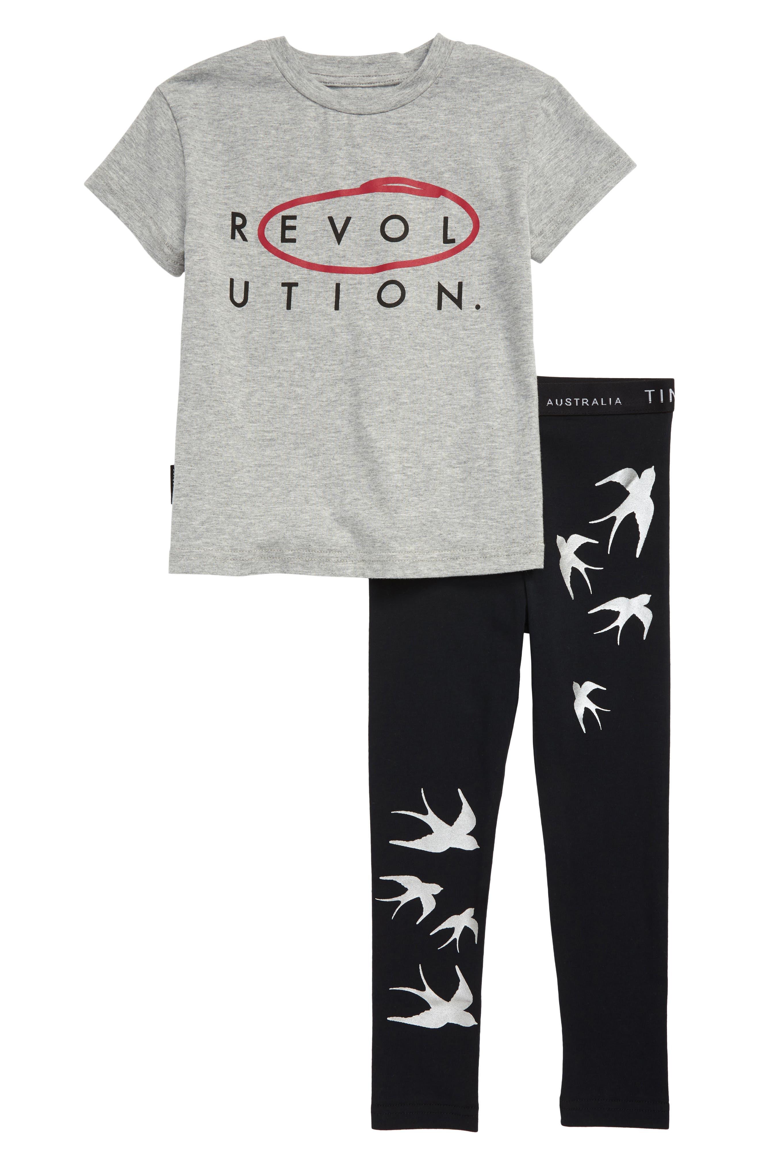 Toddler Girls Tiny Tribe Revolution Graphic Tee  Leggings Set