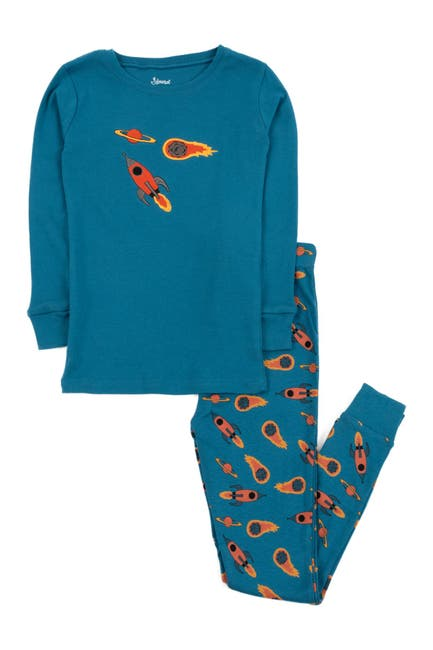 Image of Leveret Rocket Pajama Set