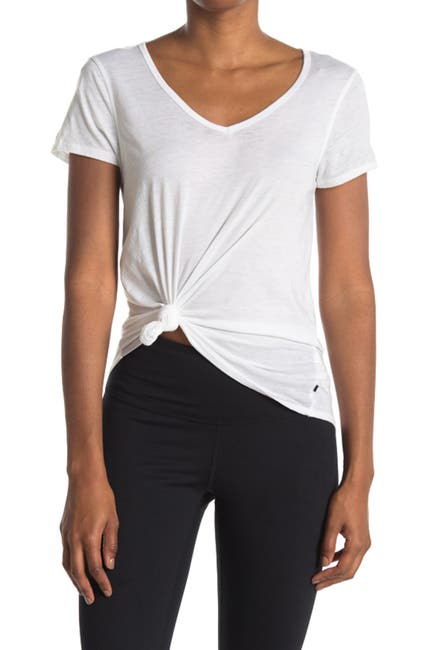 Image of Marika Marcy V-Neck Burnout T-Shirt