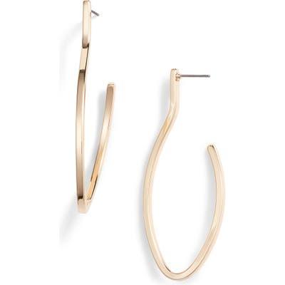 Halogen Modern Oval Hoop Post Earrings