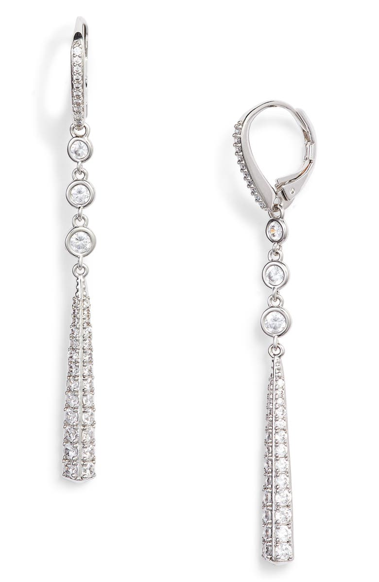 NADRI Ripple Drop Earrings, Main, color, SILVER