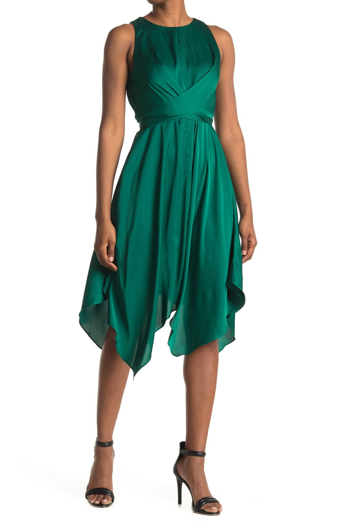 Image of Maggy London Sleeveless Tie Waist Midi Dress