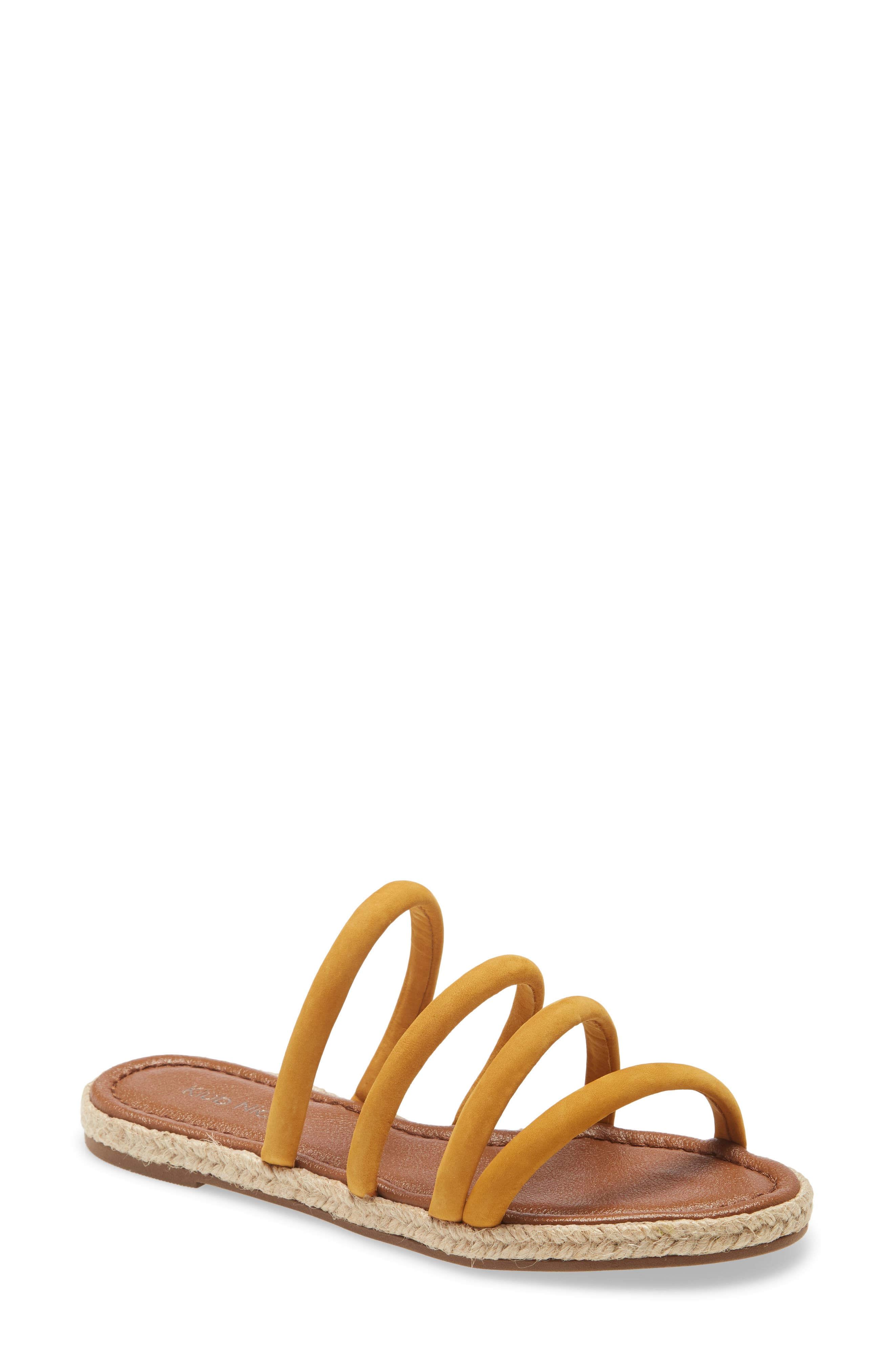Comfy rolled straps top a padded slide sandal that is traced by jute along the midsole for an extra breath of beachy style. Style Name: Klub Nico Elena Slide Sandal (Women). Style Number: 6056208. Available in stores.