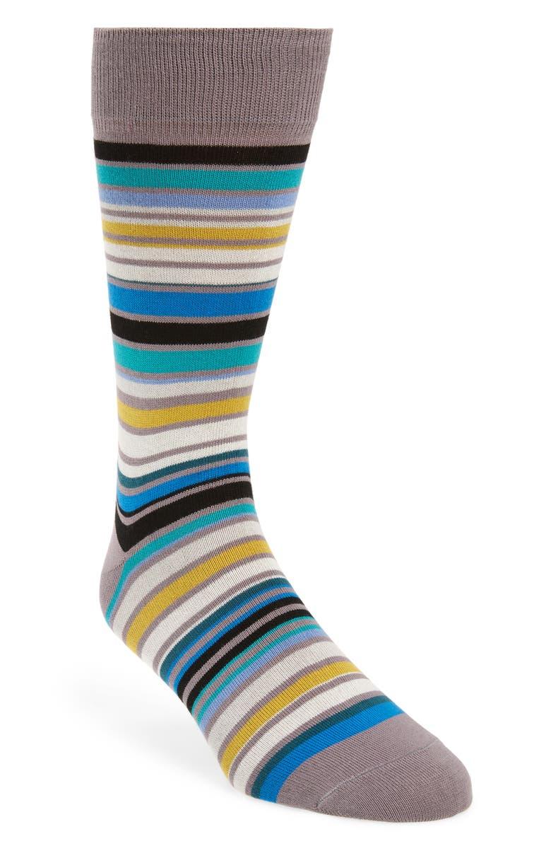 PAUL SMITH Leo Socks, Main, color, GREY