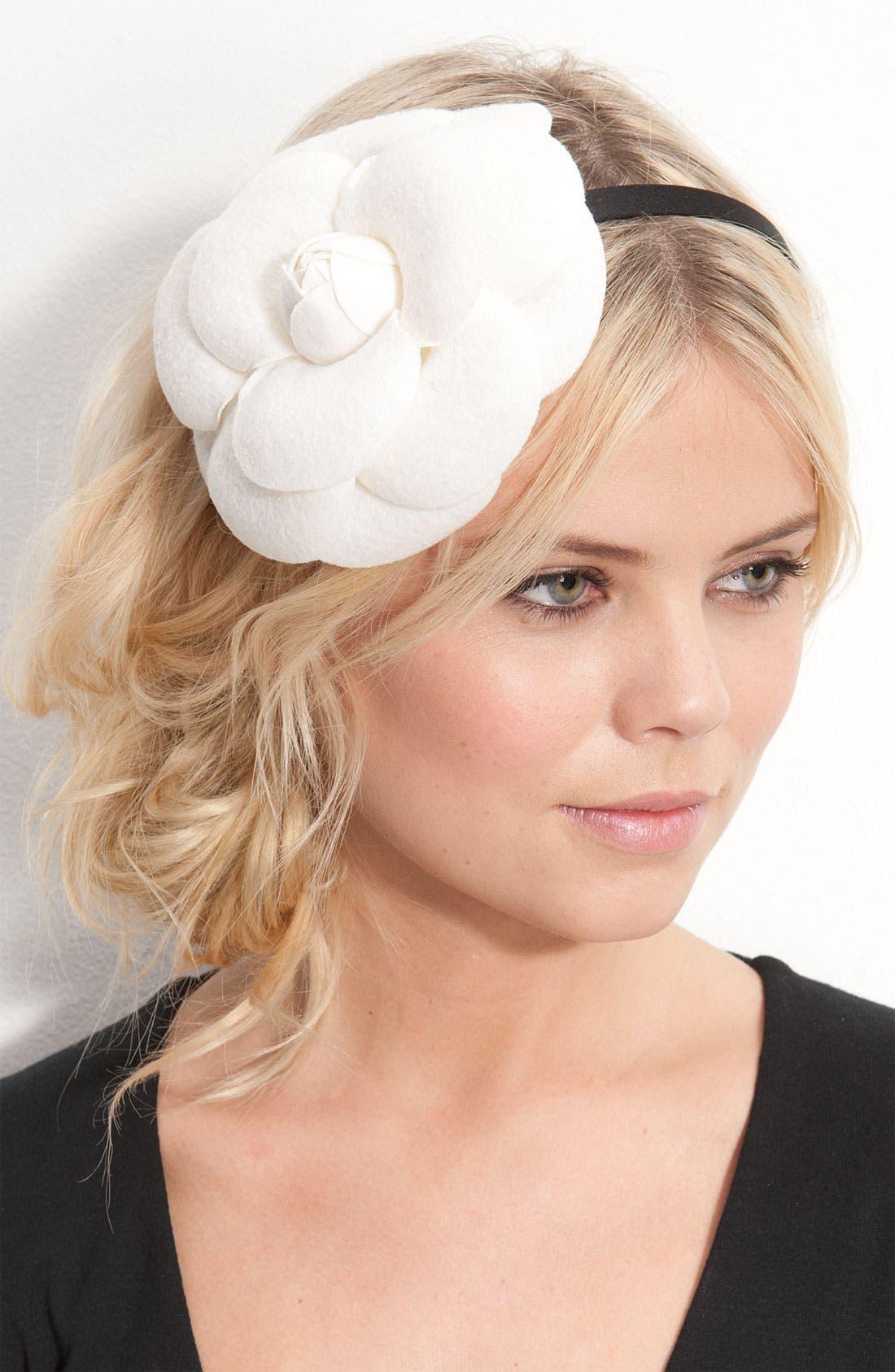 ,                             Accessories 'Extra Large Camellia' Headband,                             Main thumbnail 2, color,                             900