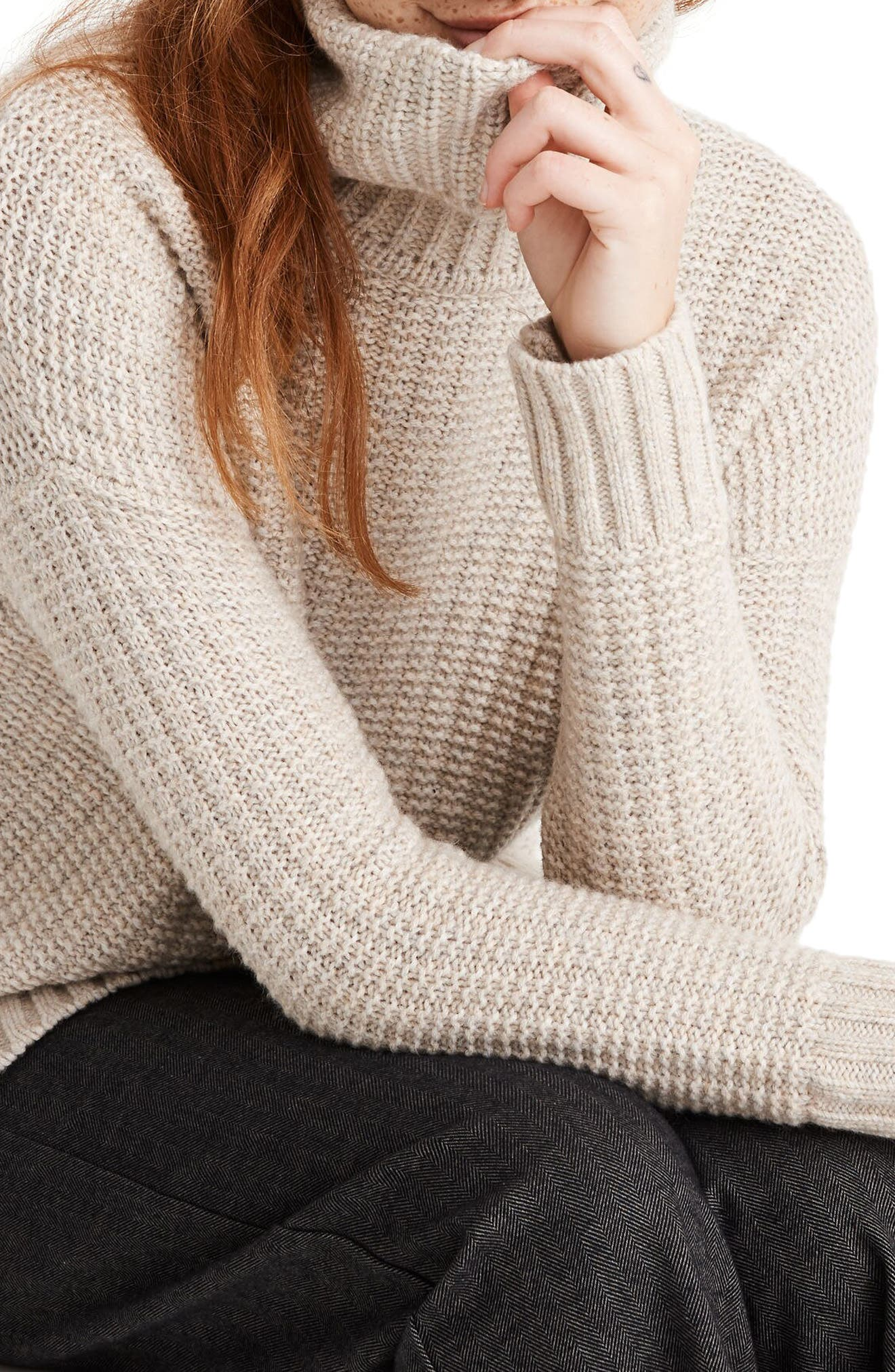 Madewell Ribbed Turtleneck Tunic Sweater